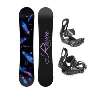 Zestaw snowboardowy Raven Mia Black 2021 + Raven s240
