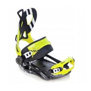 Wiązania snowboardowe Raven FT400 (black / lime) 2021
