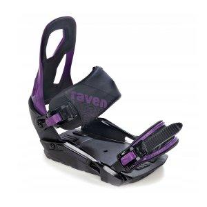 Wiązania snowboardowe Raven s200 (black / violet) 2021