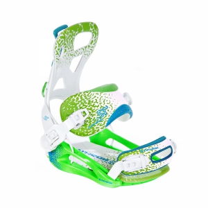 Wiązania snowboardowe Pathron Team ST (white/green/blue) 2020